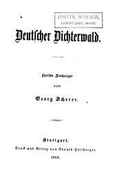 Deutscher dichterwald: lyrische anthologie