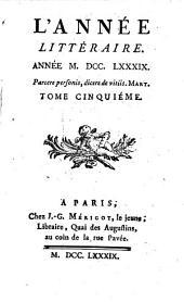 L' année littéraire: 1789,5/6