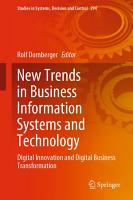 New Trends in Business Information Systems and Technology PDF