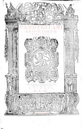 Panormitani Consiliorum libri duo. G.L.