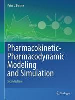 Pharmacokinetic Pharmacodynamic Modeling and Simulation PDF