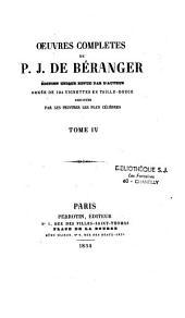 Oeuvres complètes de P.-J. de Béranger: Volume4