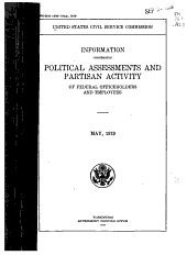 Information Concerning Political Assessments and Partisan Activity of Federal Office Holders and Employees