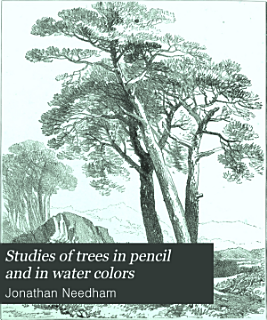Studies of trees in pencil and in water colors Book