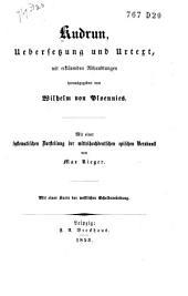 Kudrun: Übersetzung und Urtext