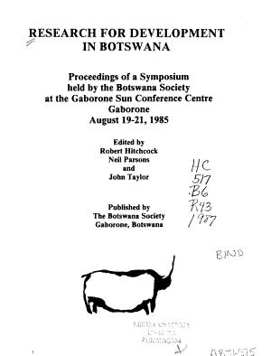 Research for Development in Botswana PDF