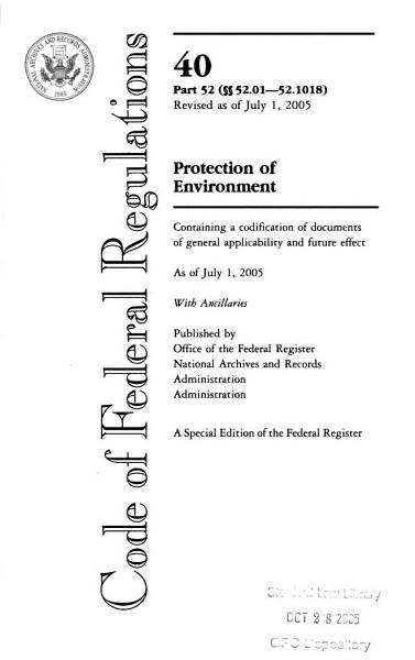 Download The Code of Federal Regulations of the United States of America Book
