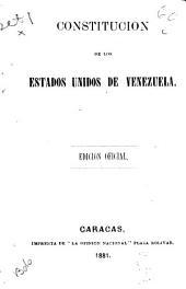 Constitución de los Estados Unidos de Venezuela: 27 de mayo de 1874