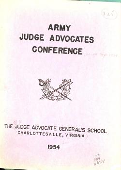 Army Judge Advocates Conference PDF