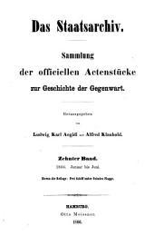 Das Staatsarchiv: Volume 10