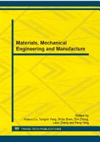 Materials  Mechanical Engineering and Manufacture PDF