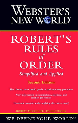 Webster s New World Robert s Rules of Order Simplified and Applied  2nd Edition