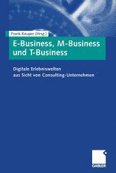 E-Business, M-Business und T-Business: Digitale Erlebniswelten aus Sicht von Consulting-Unternehmen