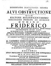 Dissertatio Inavgvralis Medica De Alvi Obstrvctione ...
