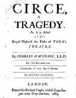 Circe  a Tragedy PDF