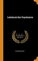 Lehrbuch Der Psychiatrie PDF