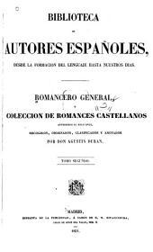 Romancero general, o, Colección de romances castellanos anteriores al siglo XVIII: Volumen 2