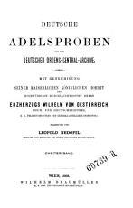 Deutsche Adelsproben aus dem deutschen Ordens Central Archive PDF