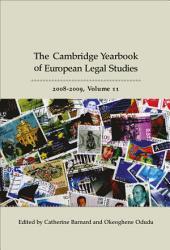 Cambridge Yearbook of European Legal Studies  Vol 11  2008 2009 PDF