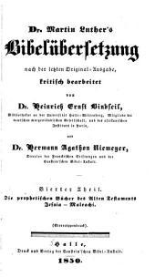 Martin Luther's Bibelübersetzung, Nach Der Letzten Original-Ausg: Volumes 4-5