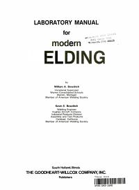 Laboratory Manual for Modern Welding
