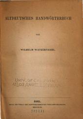 Altdeutsches Handwörterbuch