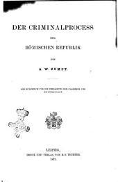 Der criminalprocess der Römischen republik