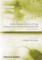 Exploring Education Through Phenomenology PDF