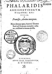 Phalaridis Agrigentinorum tyranni Epistolae
