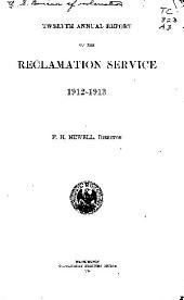 Annual report - Bureau of Reclamation: Issue 12