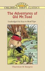 The Adventures Of Old Mr Toad Book PDF