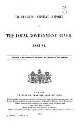 Annual Report of the Local Government Board: Volume 13