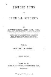 Lecture Notes for Chemical Students: Volume 2