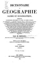 Encyclopédie théologique: ou Série de dictionnaires sur toutes les parties de la science religieuse ...