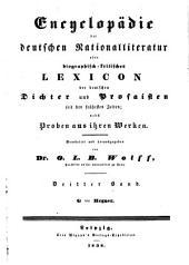 Encyclopädie der deutschen National-Literatur: Band 3