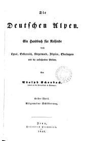 Die deutschen Alpen, ein Handbuch für Reisende