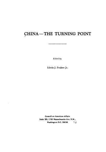 China  the Turning Point PDF