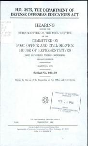 H R  3975  the Department of Defense Overseas Educators Act