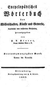 Encyclopädisches Wörterbuch der Wissenschaften, Künste und Gewerbe: bearbeitet von mehreren Gelehrten. Tenna bis Treusch, Band 23