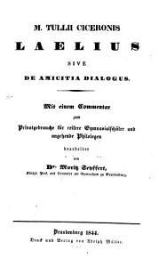 Laelius sive de Amicitia dialogus PDF