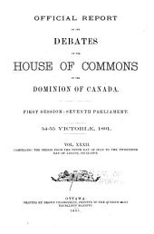 Official Report of Debates, House of Commons: Volume 32