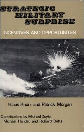 Strategic Military Surprise: Iniciatives and Opportunities