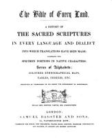 The Bibel of Every Land  A History of the Sacred Scriptures in Every Language Etc PDF