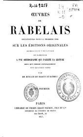 Oeuvres de Rabelais: Volume1