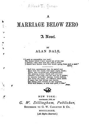 A Marriage Below Zero
