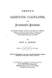 Orton's Lightning Calculator, and Accountant's Assistant ...