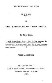 Archdeacon Paley's View of the Evidences of Christianity