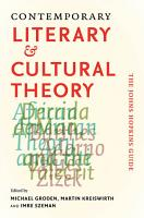 Contemporary Literary and Cultural Theory PDF