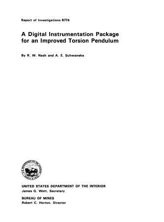A Digital Instrumentation Package for an Improved Torsion Pendulum PDF