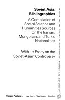 Soviet Asia  Bibliographies PDF